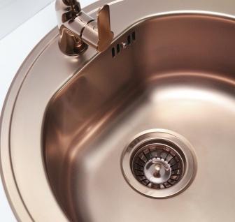 Alveus Einbauspüle Ø 510 mm Rundbecken Küchenspüle Spüle Kupfer Becken *1070807 - Vorschau 4