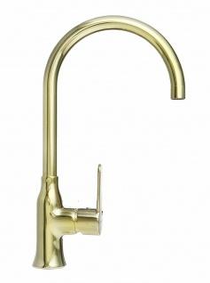 Küchenarmatur gold Spültischarmatur Slim Einhebelmischer Wasserhahn *1095004
