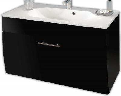 Waschplatz Set 90 cm Waschtisch Gäste Bad WC Badmöbel Waschbecken *5603-84