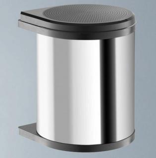 Küchen Mülleimer Abfalleimer 1x15 Liter Edelstahl Bad Kosmetikeimer Hailo *43525