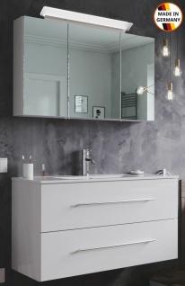 Waschplatz Homeline 100 cm LED Spiegelschrank Badezimmer Möbel 2 Teile Badmöbel