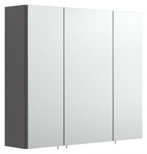 Badezimmer Spiegelschrank 70 cm Spiegel anthrazit 3-türig ohne Beleuchtung *5484