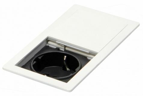 Einbausteckdose Küche IP 54 Arbeitsplatte Tisch Büro max 3400 Watt weiß *569588