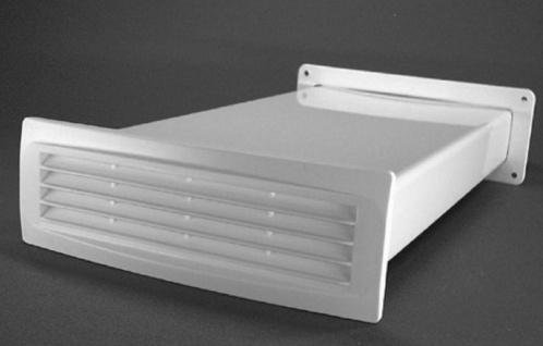 Mauerkasten Dunstabzug 220x54 mm Abluft Flachkanal Rückstauklappe weiß *50345