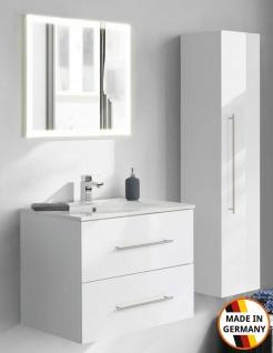Badset Homeline Waschplatz 75 cm Badmöbelset mit Keramikbecken Badezimmer Möbel