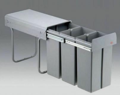 Küchen Mülleimer 3x10 Liter Wesco Müllsystem Einbau ab 30 cm Schrank ...