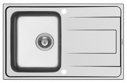 Küchenspüle 79x50 cm Einbauspüle Alea Edelstahlspüle Spülbecken edelstahl Spüle