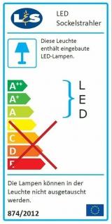 4-er Set LED Edelstahl Sockel Einbauleuchte Küche 4 x 0, 35 W Warmweiss *543434 - Vorschau 3