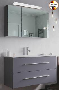 Waschplatz Homeline 100 cm LED Spiegelschrank 2 Teile Badezimmer Möbel Badmöbel
