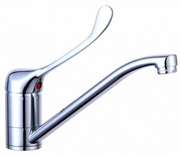 Wasserhahn Arzthebel Klinikarmatur langer Hebel Arztpraxis Einhandmischer *0505