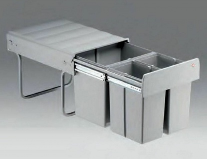 Mülleimer Küche Bodenmontage Schrank ab 40 cm Wesco Mülltrennung grau *40768