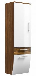 Moderner Badezimmer Hochschrank 40 x 134, 5 cm Badschrank Salona mit Klappe *5604