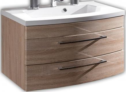 Waschplatz 100 x 57 x 50 cm Waschtisch SoftClose Badmöbel Waschbecken *5870-14
