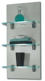Badregal Badezimmer Wandregal 68x30 cm LED Glasboden Beleuchtung Licht *5419-75