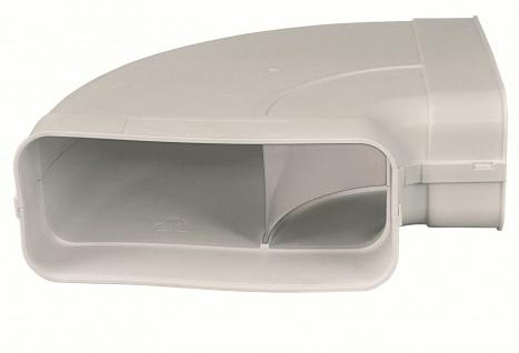 Flachkanal Abluft 222x89 mm Bogen 90° waagerecht mit Muffen Dunstabzug *50554