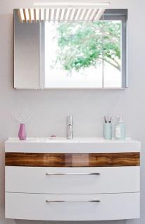 Waschplatz mit Waschbecken Waschtisch 100 cm Spiegelschrank 2 Teile Badset Rima