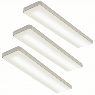 LED 3-er Set Küchen Unterbauleuchte KEY-SCREEN 3 x 6 Watt Dimmer Touch *555130