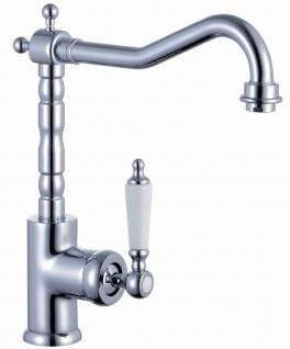 Nostalgie Küchenarmatur Wasserhahn Chrom Retro Einhand Spültischarmatur *0581