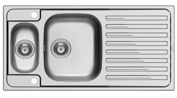 Küchenspüle 100x50 cm Einbauspüle Amaltia 1, 5 Spülbecken Hahnloch große Spüle