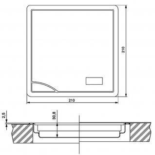 Einbau-/Küchenwaage Glas Edelstahl 210 x 210 mm Digitalanzeige max 5 kg *532575 - Vorschau 2