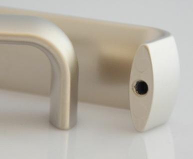 25 Stück Möbelgriffe BA 128 mm Küchengriffe vernickelt matt Schrankgriffe *9007 - Vorschau 4