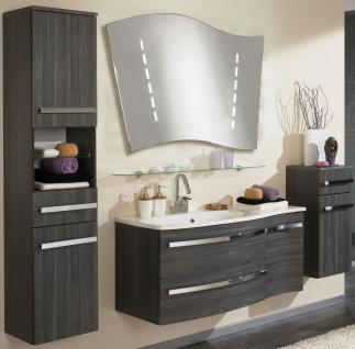 5 Teile Badmöbel Set Badezimmer komplett Waschplatz 110 cm LED Spiegel *BSHarm-6
