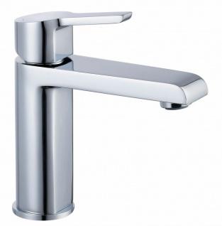 Waschtisch-Armatur Einhandmischer mit Ablaufgarnitur Kalkschutz Wasserhahn *0406