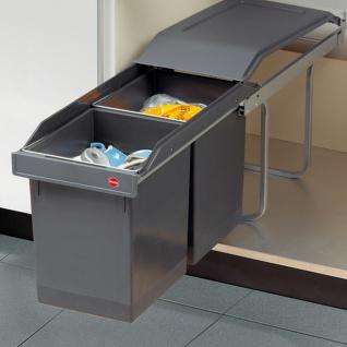 Hailo Tandem 2 x 15 L Küchen Abfall 2-fach Einbau Mülleimer Teilauszug *516087