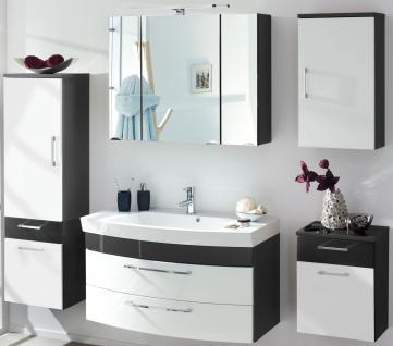 5 tlg Badset Waschplatz 100 cm RIMA Badmöbel Badezimmer LED Spiegelschrank *5003