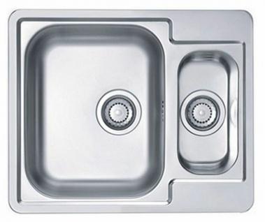 Küchenspüle Line 50 Einbauspüle 61x50 cm Spüle edelstahl 1, 5 Spülbecken *1065676