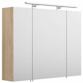 Badezimmer Spiegelschrank 80 cm Wandspiegel LED Beleuchtung EEK A+ 3 Türen *5681