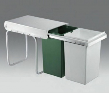 Wesco Double Boy 30 DT Küchen Abfall Mülleimer 2 x 15 Liter Teilauszug *502899