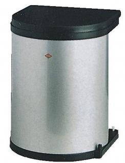 Wesco Küchen Abfall Mülleimer 11 Liter Bad Kosmetikeimer Grau Türmontage *514335