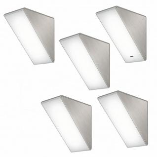LED 5er Unterbauleuchte Küche 5x4 W Helligkeit regelbar Key45 mit Dimmer *571451