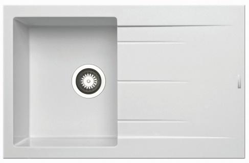Einbauspüle 79x50 cm Küchenspüle Alazia Spülbecken snow Abwaschbecken modern