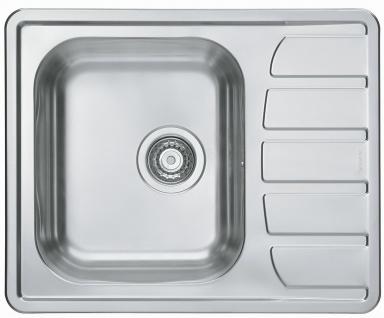 Kleine Küchenspüle 61, 5 cm Edelstahl Einbauspüle Camping Spüle Ablauf *1100215 - Vorschau 1