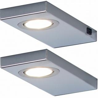 2-er Set LED Unterbau-/Küchenleuchte 2 x 3 Watt Licht 3200 K Edelstahl *548859