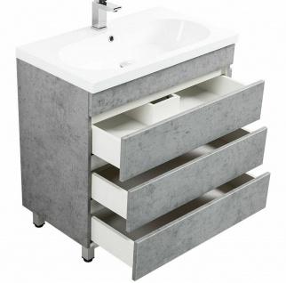 Waschtisch 70 cm stehend Keramikbecken Gäste Bad WC Waschplatz KALI Standmöbel