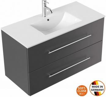 Waschtisch mit Unterschrank 100 cm Waschplatz Homeline mit 2 Schubladen Badmöbel
