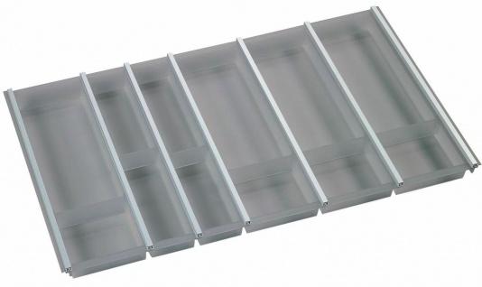Besteckeinsatz Cuisio für 90 cm Korpusbreite Tiefe 62, 3 cm Besteckkasten graphit
