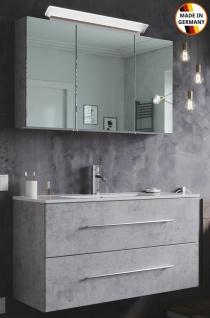 Großer Waschplatz Homeline 100 cm LED Spiegelschrank Badezimmer Möbel Waschtisch