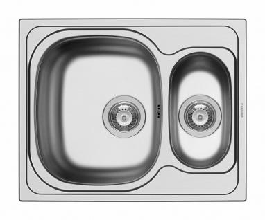 Einbauspüle Edelstahl 62 cm Küchenspüle 1, 5 Spülbecken Pyramis Spüle *100135112