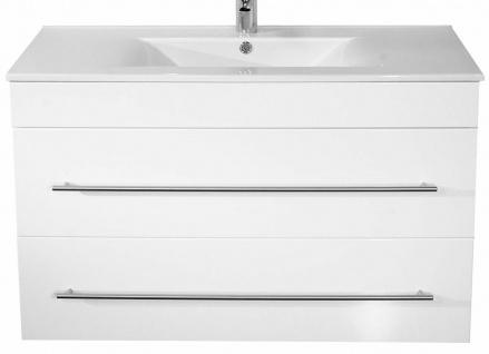 Waschtisch mit Unterschrank 100 cm Aurora Keramik-Becken Waschplatz SoftClose