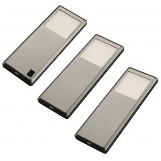 LED 3-er Set Küchen Unterbauleuchte 3 x 3 W Leuchtenset Edelstahloptik *537587