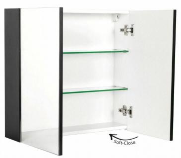 Badezimmer Spiegelschrank 66 cm CARMENTA 2 Türen Spiegel Anthrazit *CA6662-104
