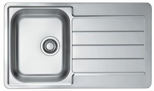 Küchenspüle Line 20 Einbauspüle 86x50 cm Spüle edelstahl 1 Spülbecken *1065560