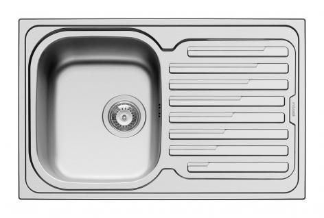 Einbauspüle 79x50cm Drehexzenter reversibel Spülbecken Edelstahl-/Küchenspüle