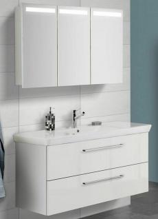 Waschtisch 120 cm LED Spiegelschrank Scanbad Waschplatz Porzellanbecken *359934