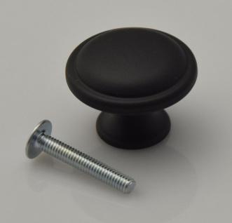 Kommoden Möbelknopf Ø 30 mm Schwarz matt Schrank Türknopf Möbelknauf *702-Black