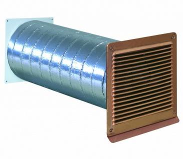 Mauerkasten Dunstabzug Ø 150 mm wärmeisoliert Aussengitter kupferfarben *568277
